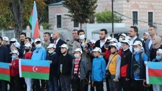 Türkiye Gençlik Vakfı Karabağ Zaferi'nin yıl dönümünde Ayasofya Camii'ndeydi