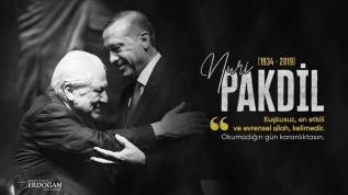 Başkan Erdoğan edebiyatçı Nuri Pakdil'i andı