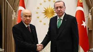 Başkan Erdoğan'ın MHP lideri Bahçeli ile görüşmesi başladı